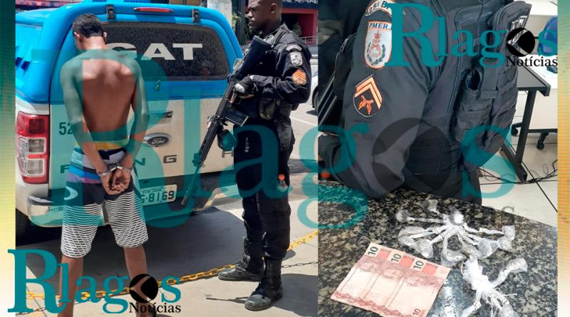 Policiais do GAT prende suspeito do tráfico de bairro do Jacaré em Cabo Frio