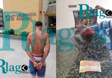 P2, prende suspeito do tráfico de drogas no Morro do Limão em Cabo Frio