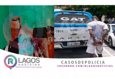 Suspeito de matar idoso de 70 anos no Jardim Peró é preso pelo GAT em Cabo Frio
