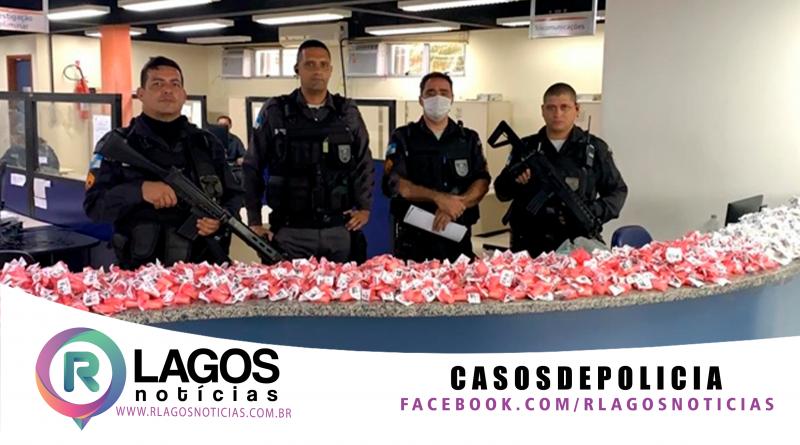 PM, apreende mais de 4 mil cápsulas de cocaína em Maricá
